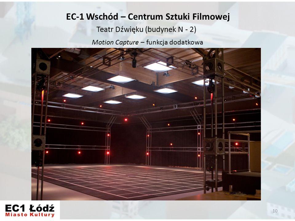Motion Capture – funkcja dodatkowa 10 EC-1 Wschód – Centrum Sztuki Filmowej Teatr Dźwięku (budynek N - 2)
