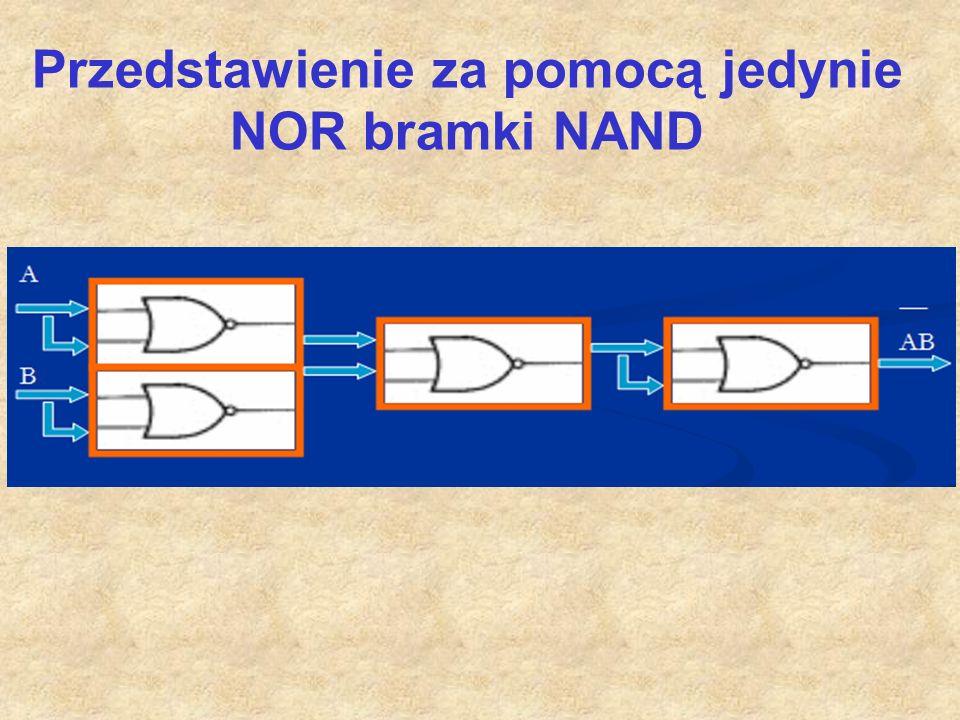 Przedstawienie za pomocą jedynie NOR bramki NAND