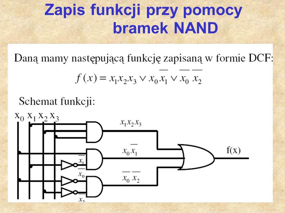 Zapis funkcji przy pomocy bramek NAND
