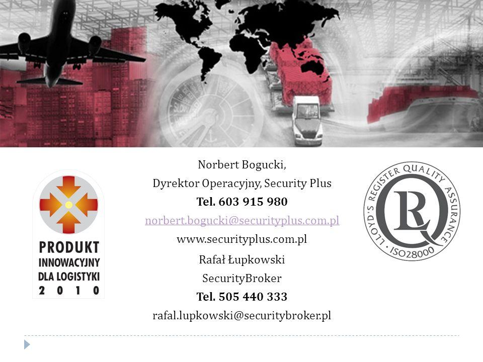 Norbert Bogucki, Dyrektor Operacyjny, Security Plus Tel.