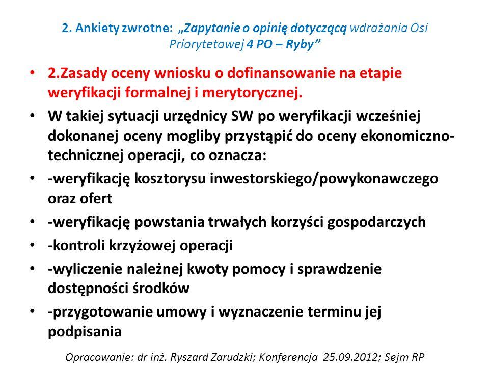 2.Zasady oceny wniosku o dofinansowanie na etapie weryfikacji formalnej i merytorycznej.