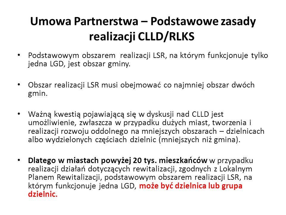 Podstawowym obszarem realizacji LSR, na którym funkcjonuje tylko jedna LGD, jest obszar gminy.