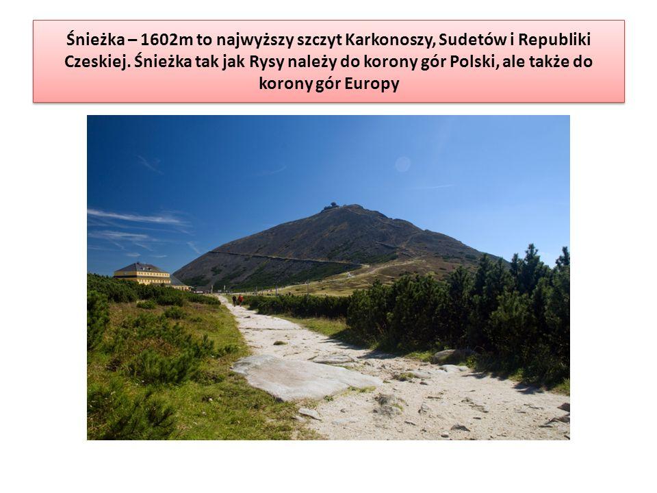 Śnieżka – 1602m to najwyższy szczyt Karkonoszy, Sudetów i Republiki Czeskiej.
