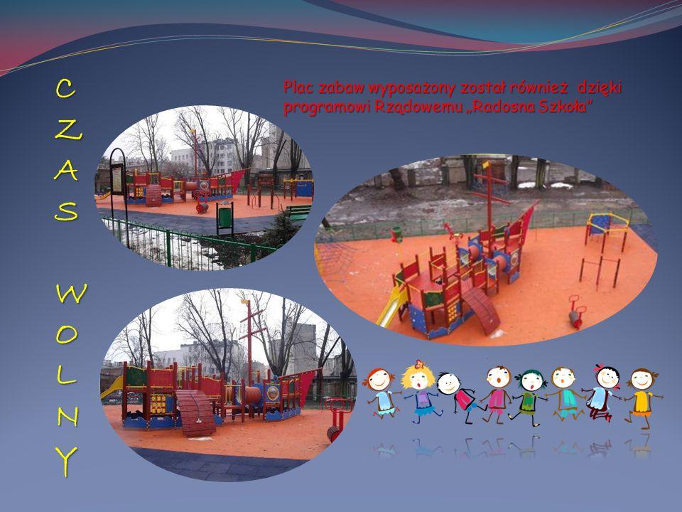 """Plac zabaw wyposażony został również dzięki programowi Rządowemu """"Radosna Szkoła"""" CZAS WOLNYCZAS WOLNYCZAS WOLNYCZAS WOLNY"""
