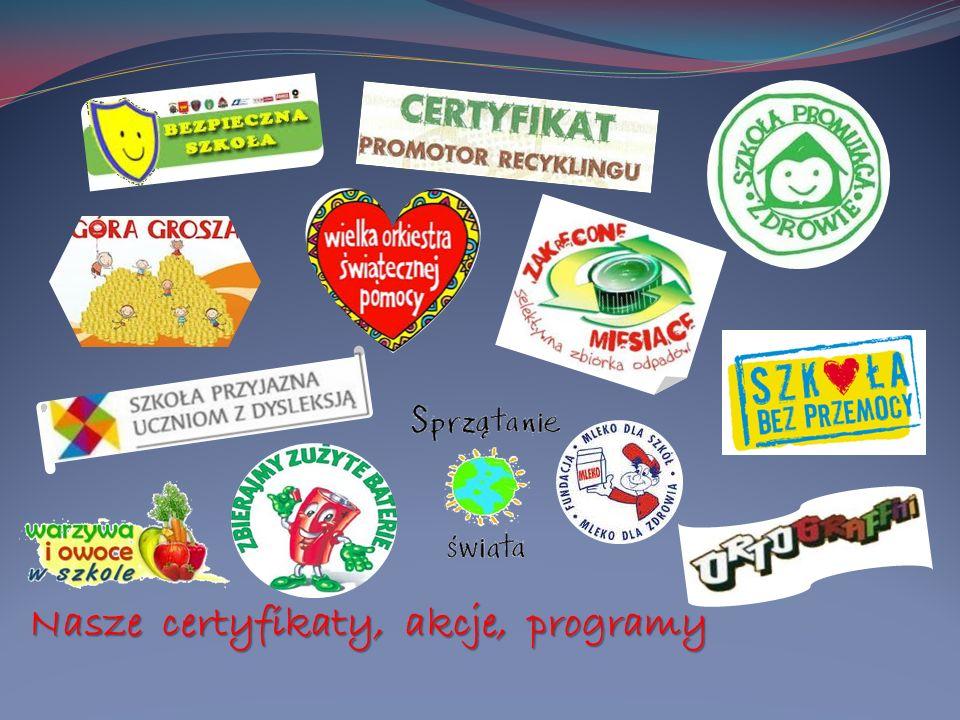 Nasze certyfikaty, akcje, programy