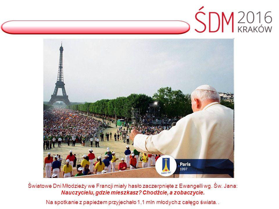 Światowe Dni Młodzieży we Francji miały hasło zaczerpnięte z Ewangelli wg.