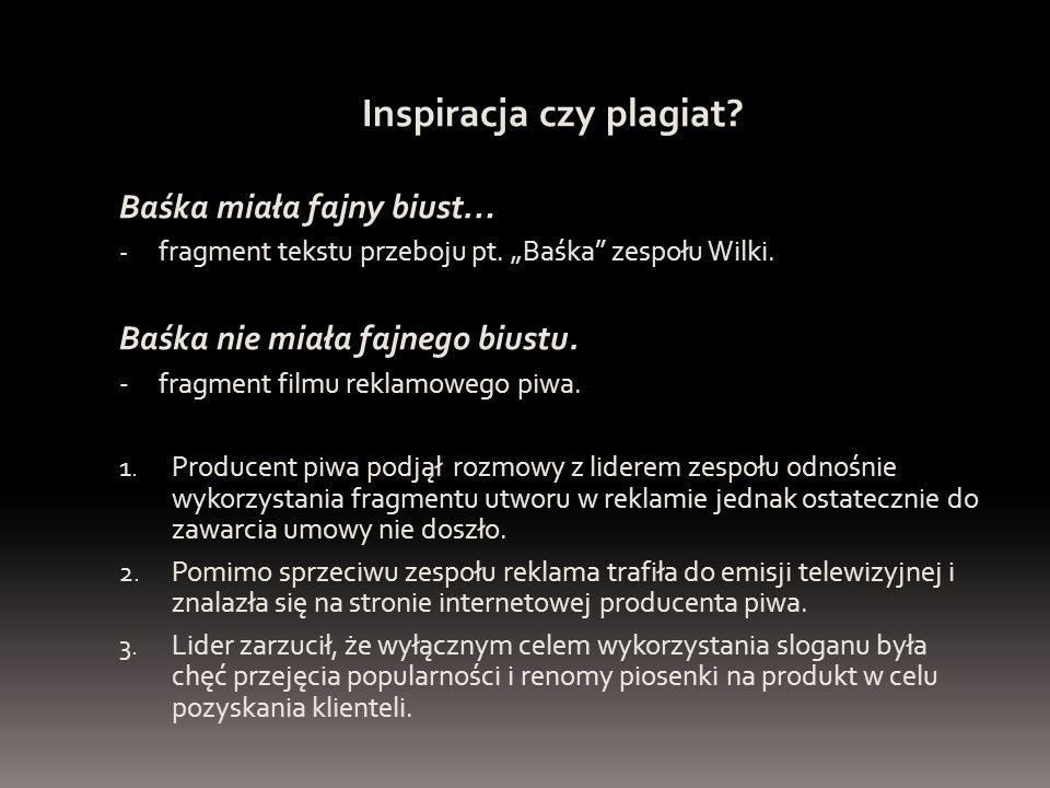 """Inspiracja czy plagiat? Baśka miała fajny biust… - fragment tekstu przeboju pt. """"Baśka"""" zespołu Wilki. Baśka nie miała fajnego biustu. - fragment film"""