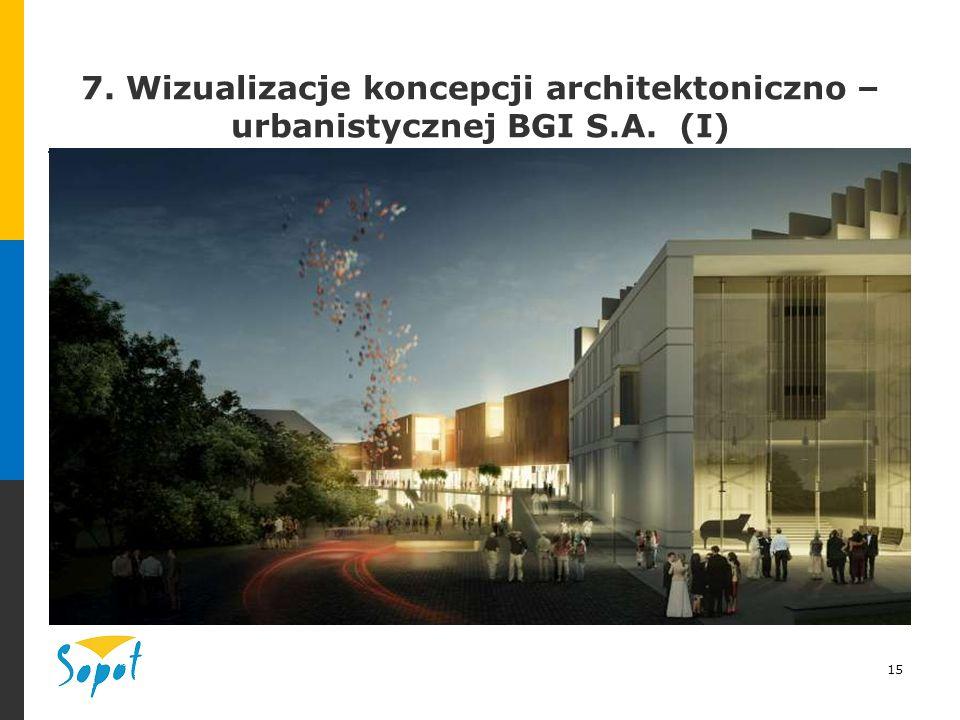 15 7. Wizualizacje koncepcji architektoniczno – urbanistycznej BGI S.A. (I)
