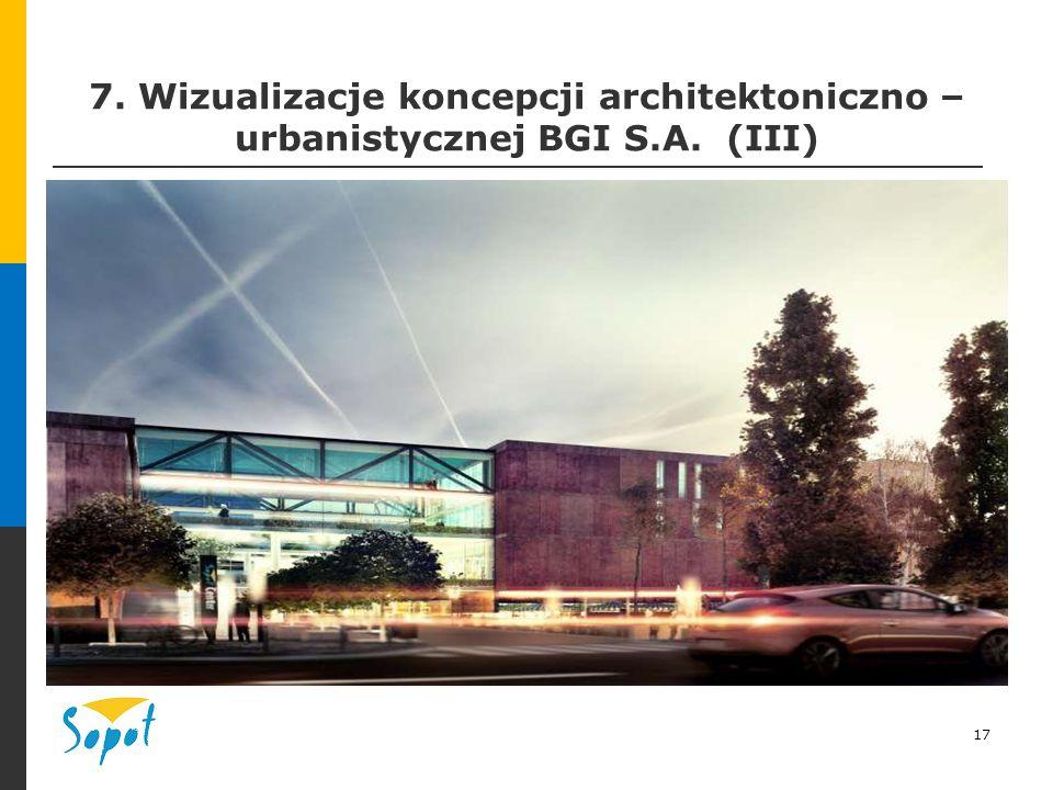 17 7. Wizualizacje koncepcji architektoniczno – urbanistycznej BGI S.A. (III)