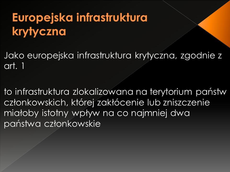 Jako europejska infrastruktura krytyczna, zgodnie z art.