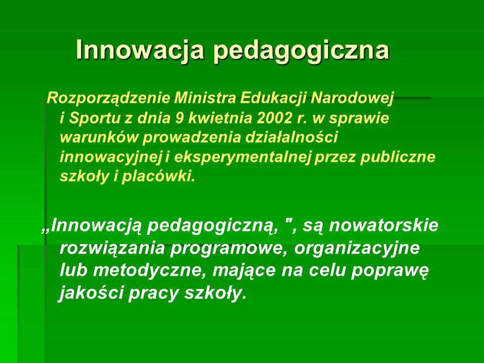 Rozporządzenie Ministra Edukacji Narodowej i Sportu z dnia 9 kwietnia 2002 r.