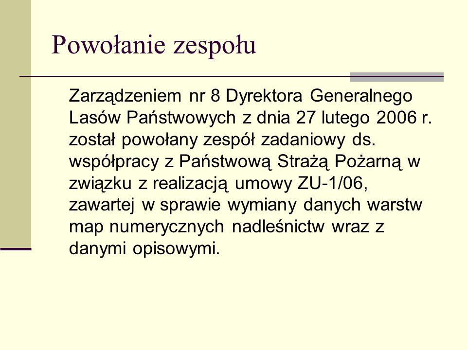 Powołanie zespołu Zarządzeniem nr 8 Dyrektora Generalnego Lasów Państwowych z dnia 27 lutego 2006 r. został powołany zespół zadaniowy ds. współpracy z