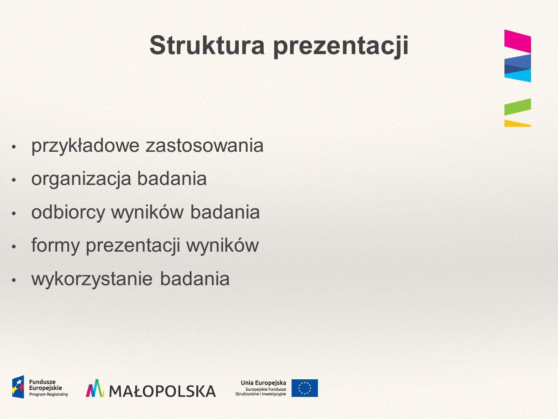 Odbiorcy wyników badania szkoły organy prowadzące Projekt Modernizacja kształcenia zawodowego w Małopolsce WRRP doradcy zawodowi inne instytucje LLL PUP