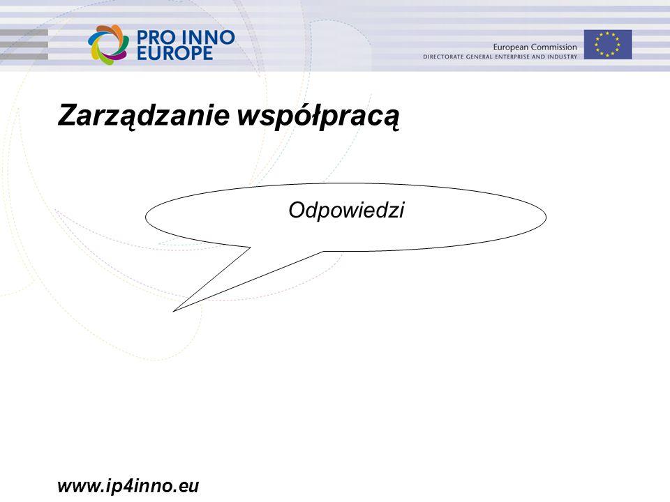 www.ip4inno.eu Zarządzanie współpracą Odpowiedzi