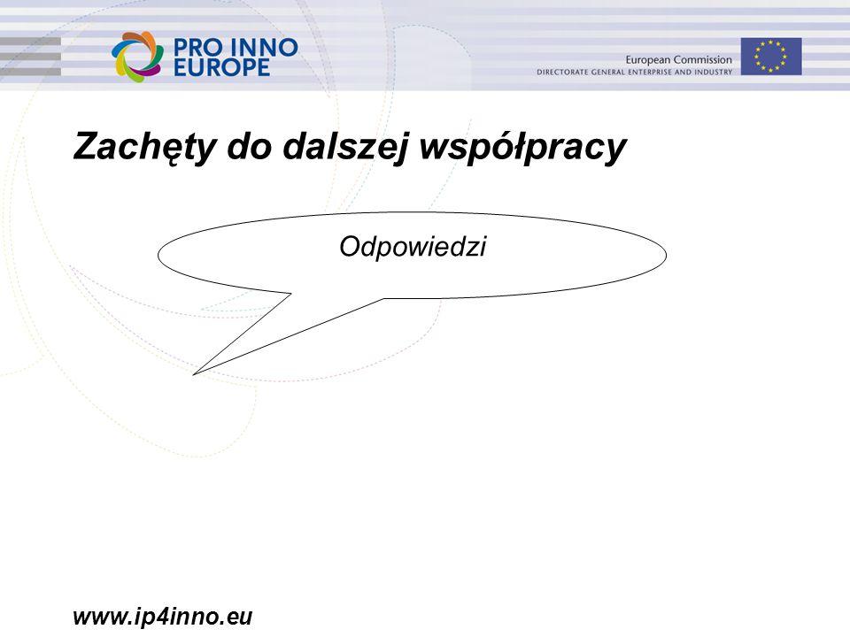 www.ip4inno.eu Zachęty do dalszej współpracy Odpowiedzi