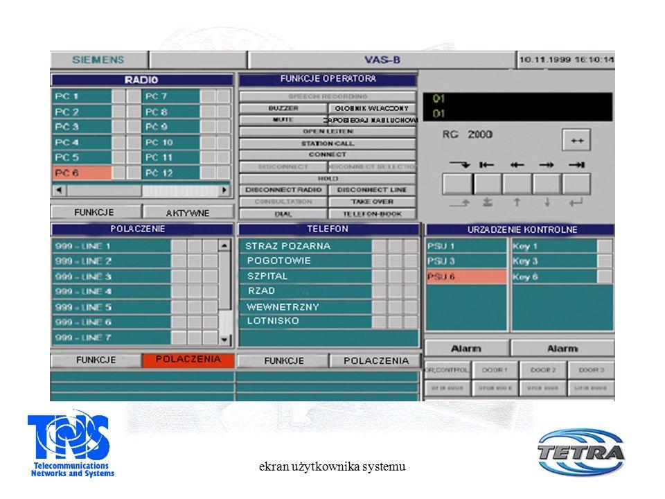 ekran użytkownika systemu