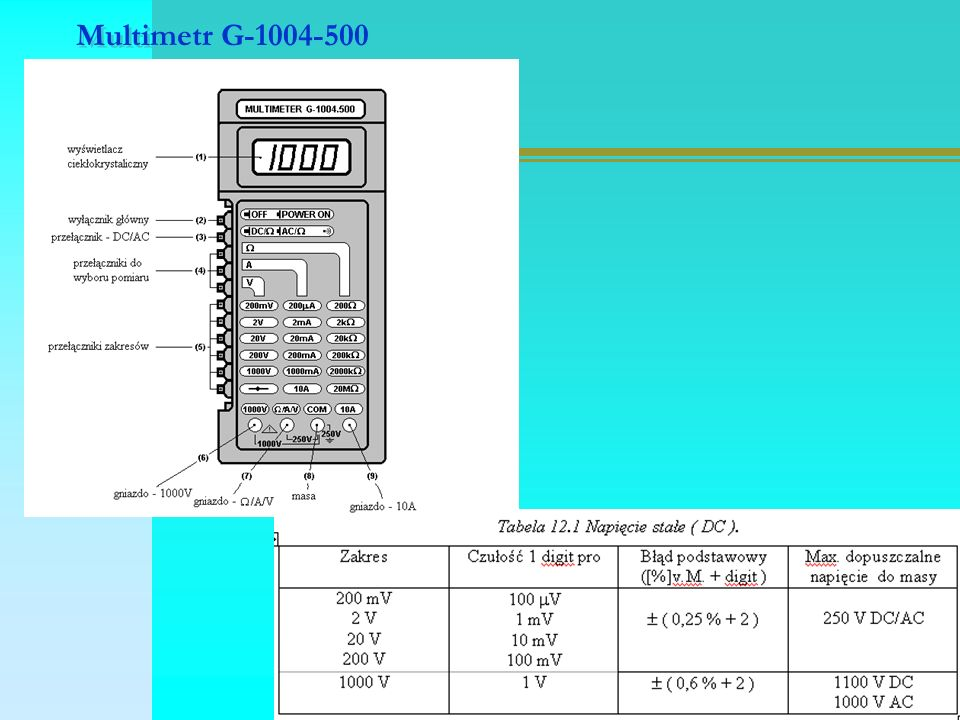 Multimetr G-1004-500