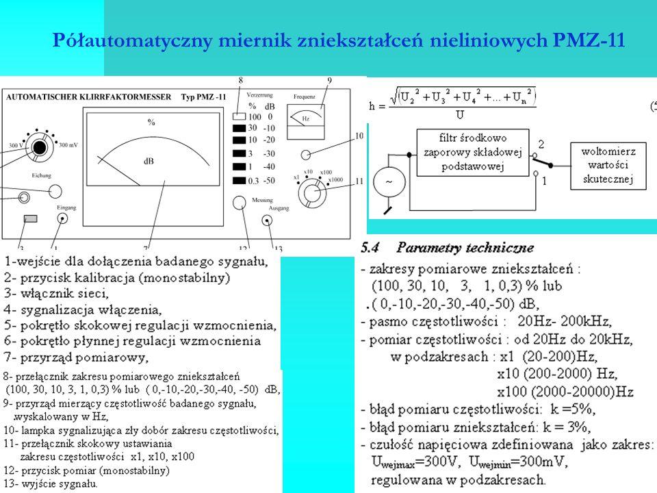 Półautomatyczny miernik zniekształceń nieliniowych PMZ-11