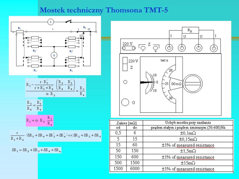 G Z R1R1 R3R3 R4R4 R3'R3'  R2R2 R4'R4' r 1 Mostek techniczny Thomsona TMT-5
