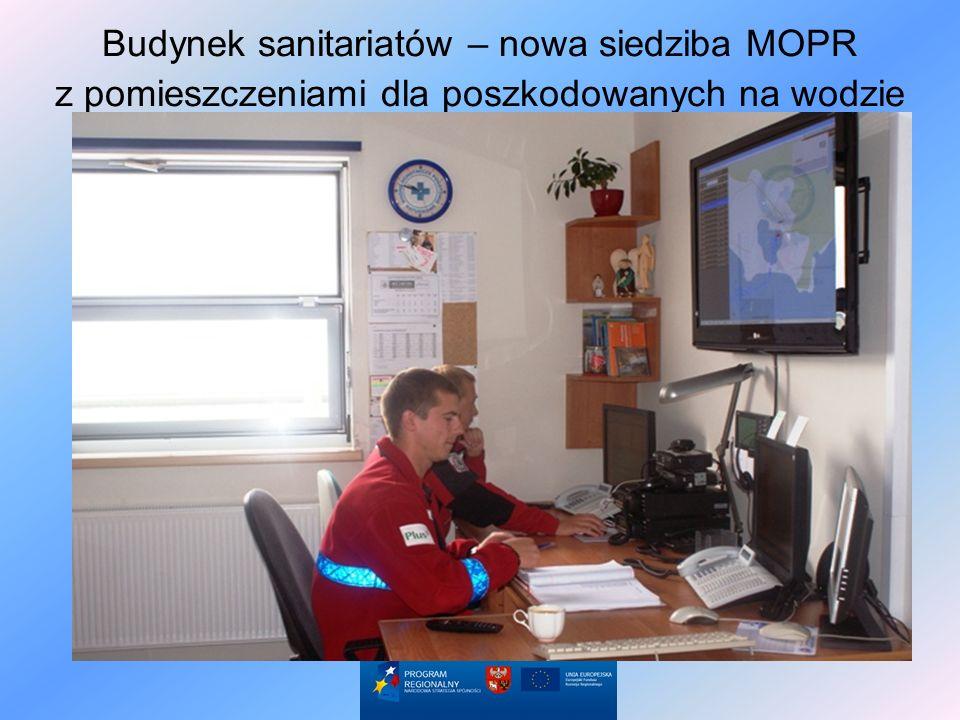 Budynek sanitariatów – nowa siedziba MOPR z pomieszczeniami dla poszkodowanych na wodzie