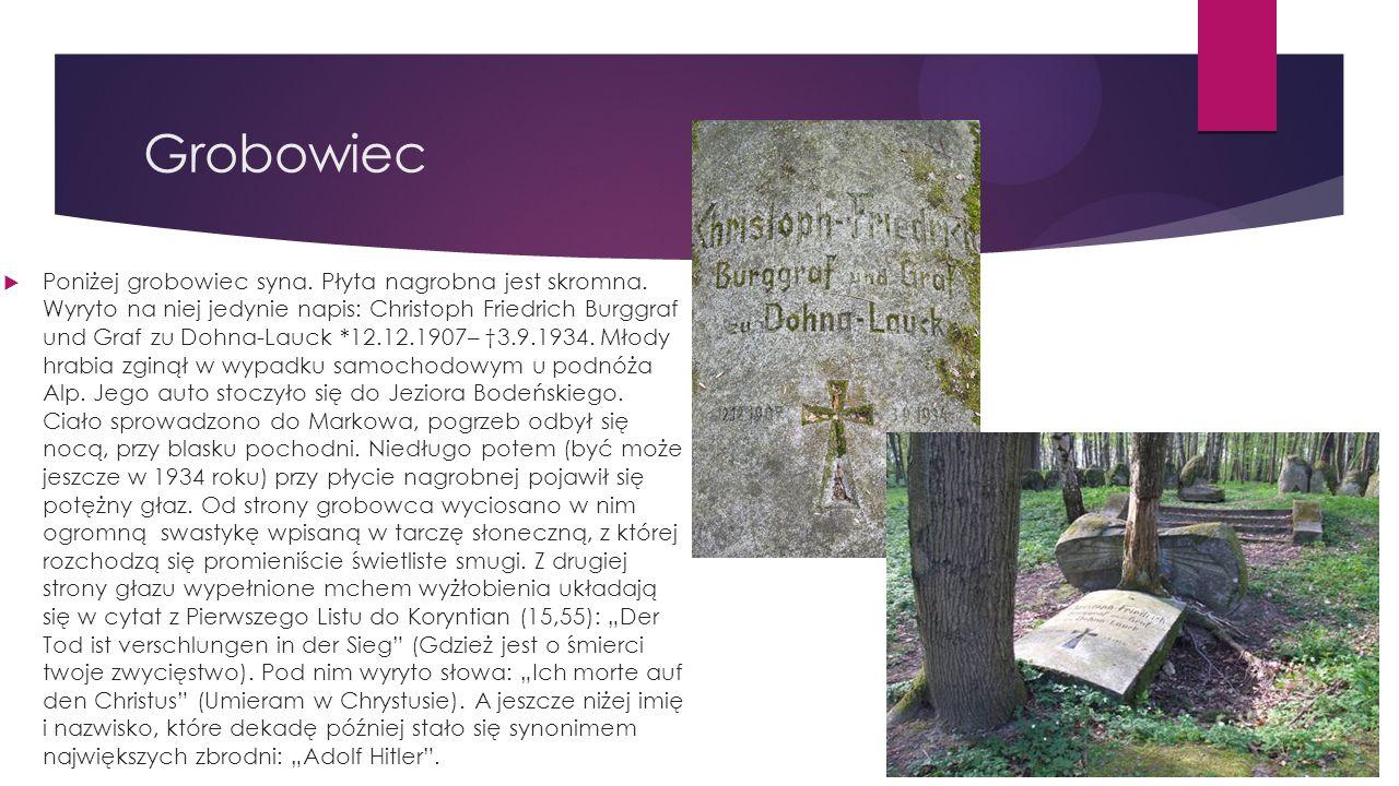 Grobowiec  Poniżej grobowiec syna. Płyta nagrobna jest skromna.