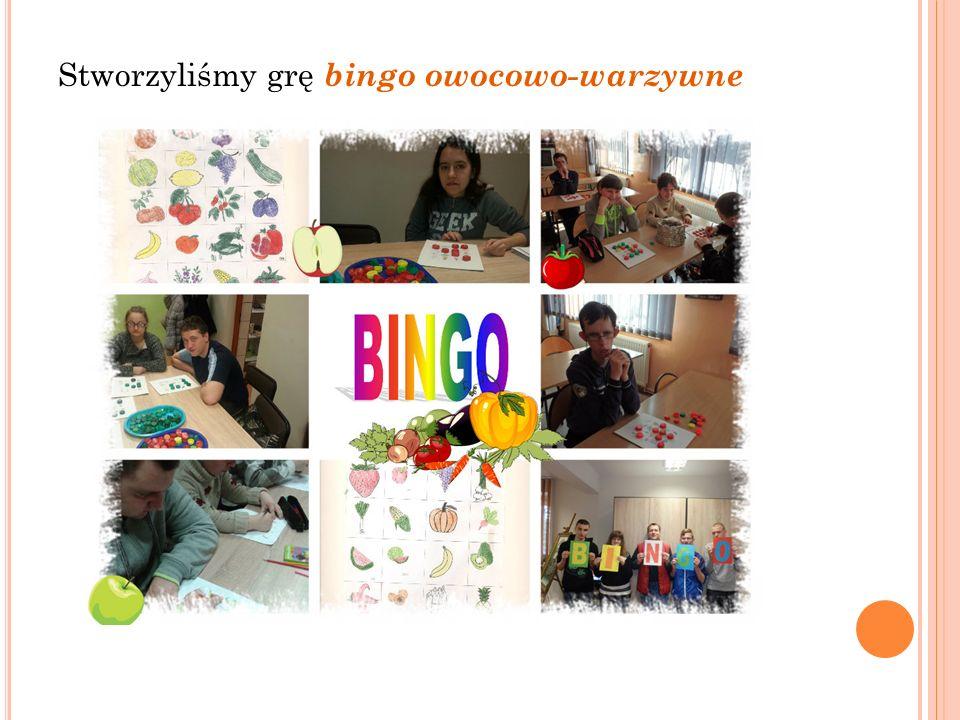 Stworzyliśmy grę bingo owocowo-warzywne