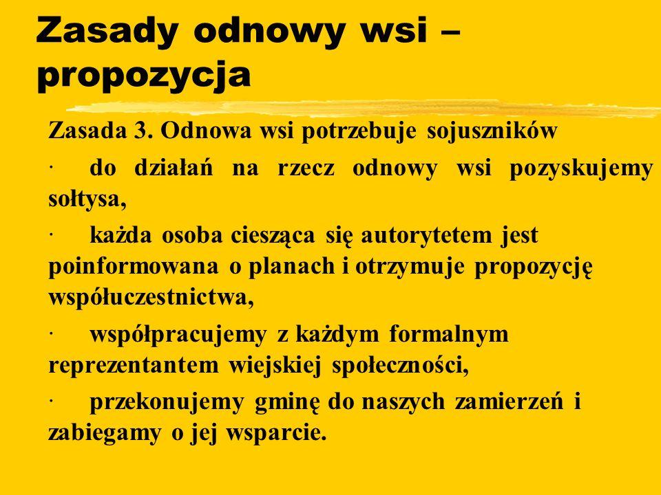 Zasady odnowy wsi – propozycja zZasada 3.