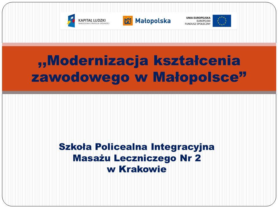 Szkoła Policealna Integracyjna Masażu Leczniczego Nr 2 w Krakowie,,Modernizacja kształcenia zawodowego w Małopolsce''