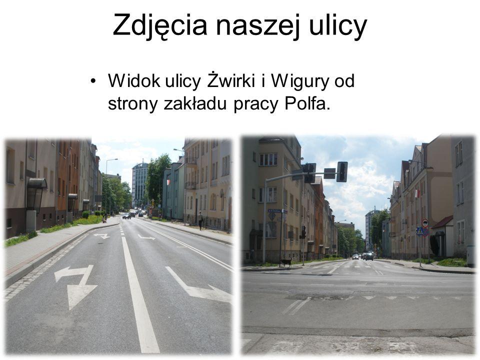 Zdjęcia naszej ulicy Widok ulicy Żwirki i Wigury od strony zakładu pracy Polfa.