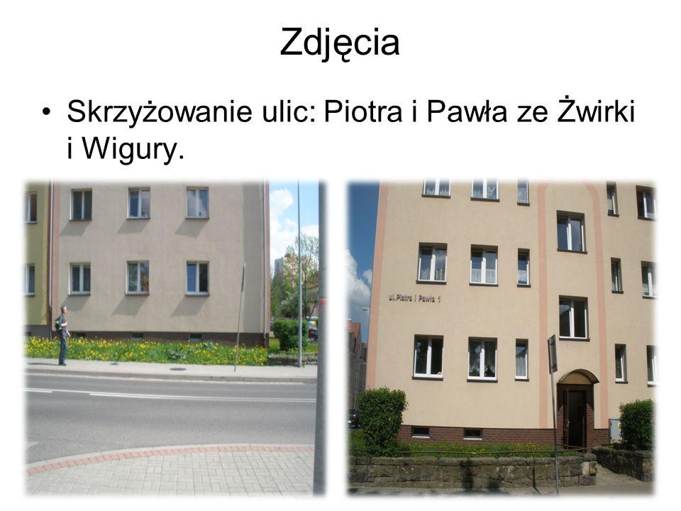 Zdjęcia Skrzyżowanie ulic: Piotra i Pawła ze Żwirki i Wigury.
