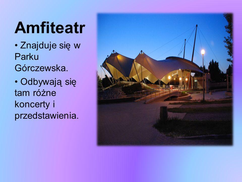 Amfiteatr Znajduje się w Parku Górczewska. Odbywają się tam różne koncerty i przedstawienia.