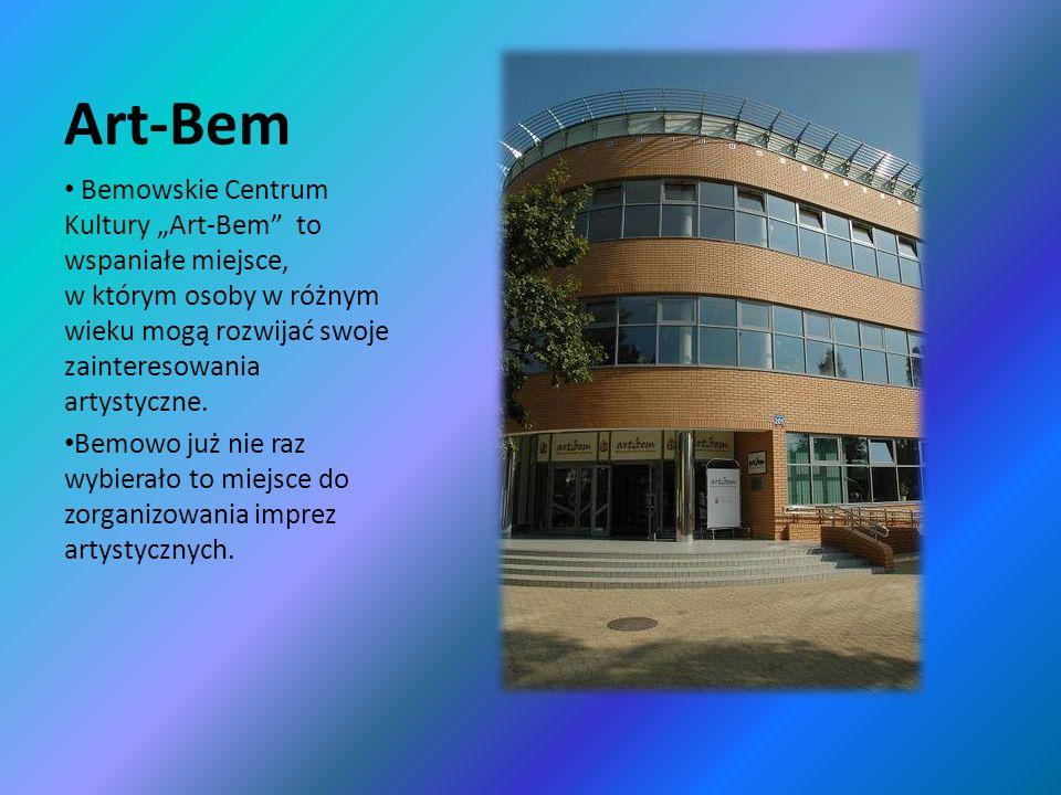 """Art-Bem Bemowskie Centrum Kultury """"Art-Bem to wspaniałe miejsce, w którym osoby w różnym wieku mogą rozwijać swoje zainteresowania artystyczne."""