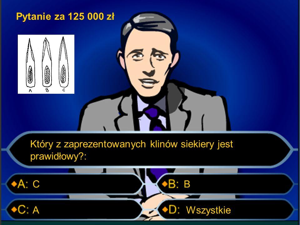 Pytanie za 75 000 zł Węzeł płaski Zdjęcie powyżej przedstawia: Węzeł flagowy Węzeł ratowniczyWęzeł holowniczy