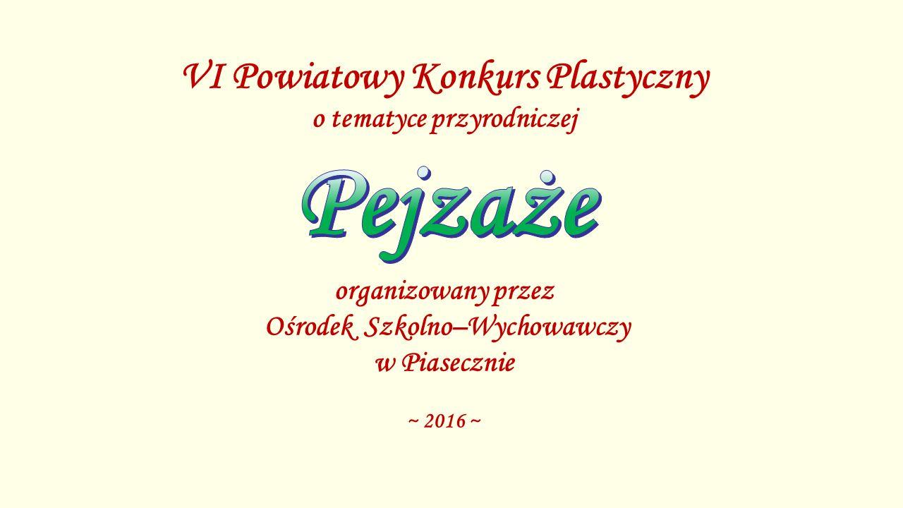 Ewa Wojtyszko Miejsce I – kategoria klasy IV-VI SP Tarczyn