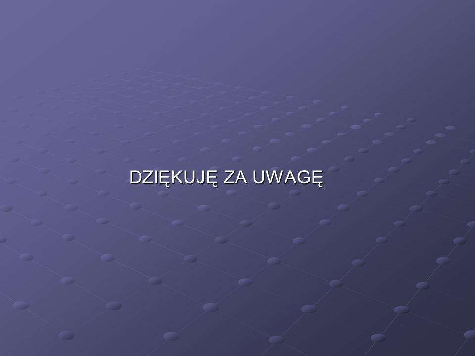 DZIĘKUJĘ ZA UWAGĘ DZIĘKUJĘ ZA UWAGĘ