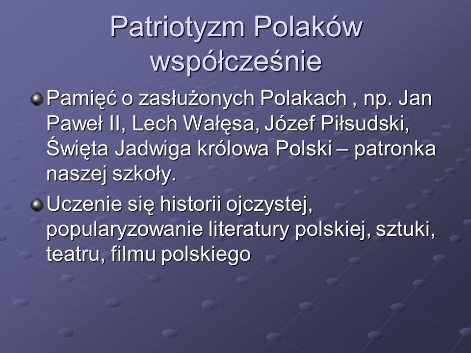 Pamięć o zasłużonych Polakach, np.