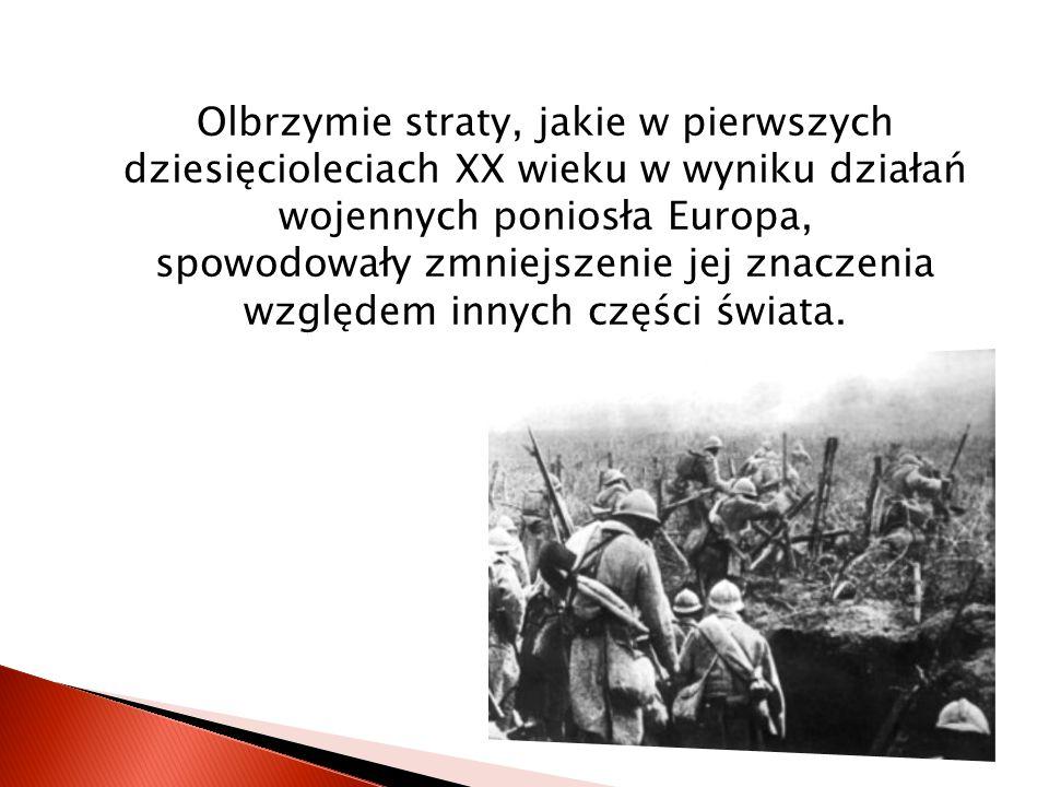 Wojna poważnie osłabiła funkcjonowanie dużych, scentralizowanych i wieloetnicznych państw takich jak: Niemcy, Austro-Węgry czy Rosja.