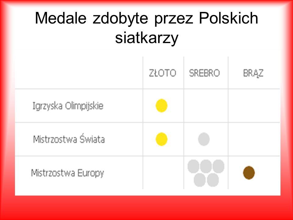 Medale zdobyte przez Polskich siatkarzy
