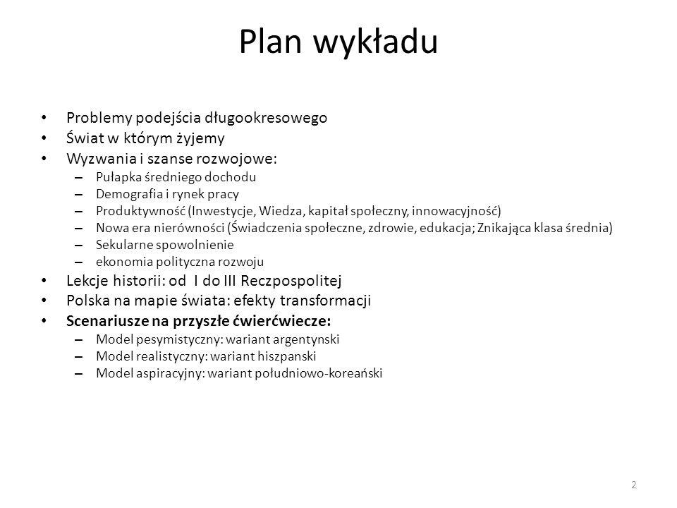 Scenariusze na przyszłe ćwierćwiecze Efekty Plan Stabilizacji i Liberalizacji były znacząco pozytywne.