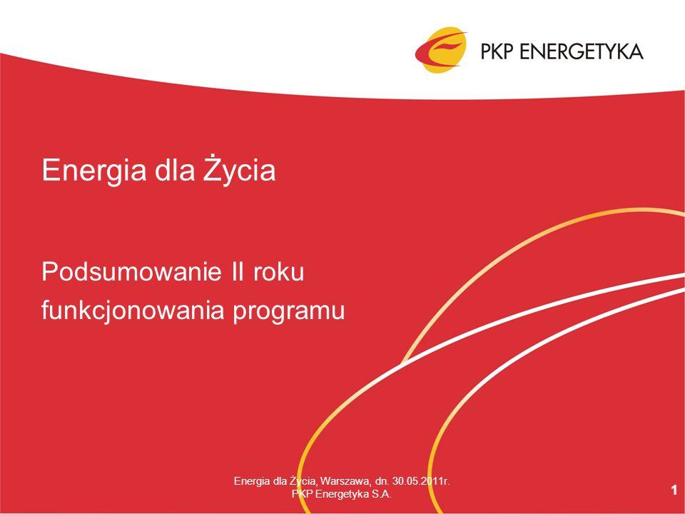 1 Energia dla Życia, Warszawa, dn. 30.05.2011r. PKP Energetyka S.A.