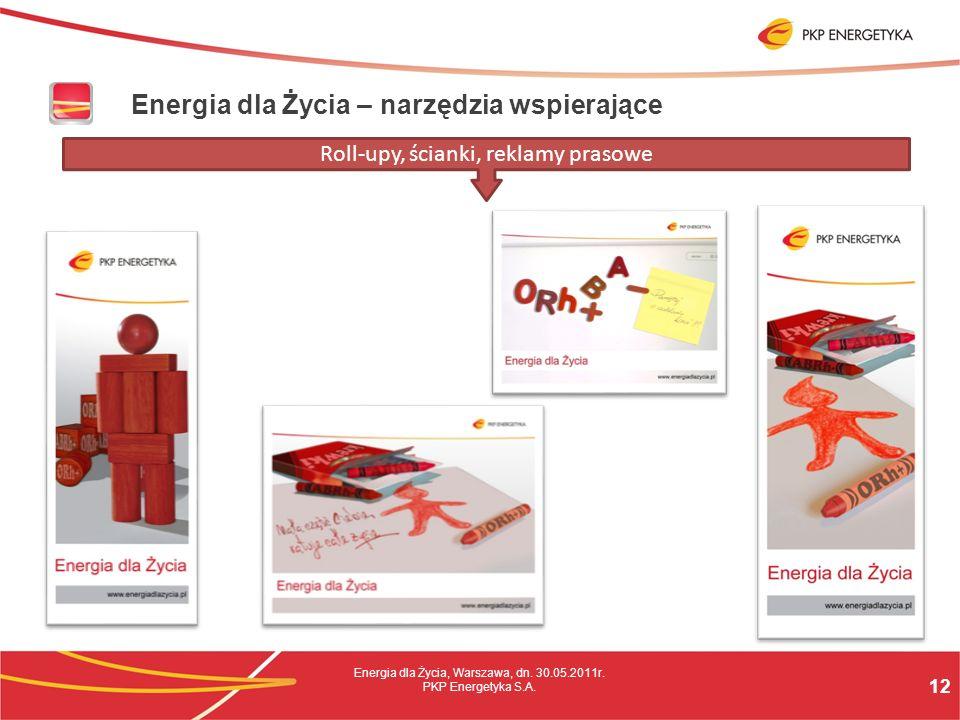 12 Energia dla Życia, Warszawa, dn. 30.05.2011r. PKP Energetyka S.A.
