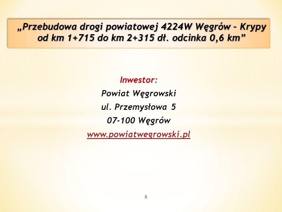 Inwestor: Powiat Węgrowski ul. Przemysłowa 5 07-100 Węgrów www.powiatwegrowski.pl 8
