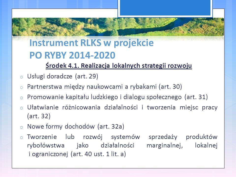 Instrument RLKS w projekcie PO RYBY 2014-2020 Środek 4.1.