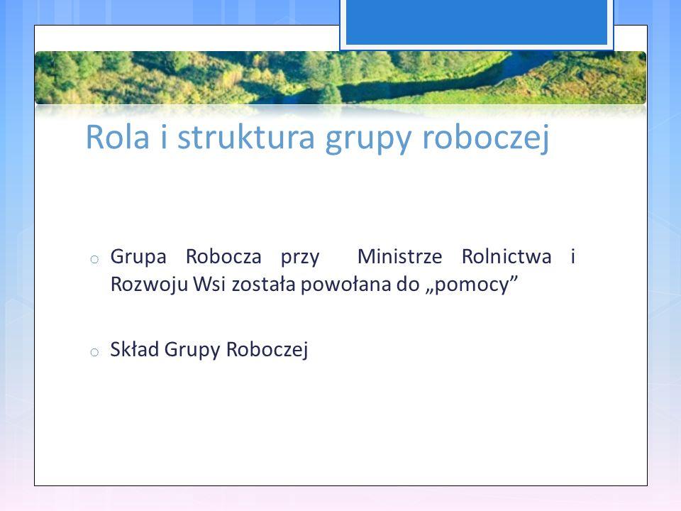 """Rola i struktura grupy roboczej o Grupa Robocza przy Ministrze Rolnictwa i Rozwoju Wsi została powołana do """"pomocy o Skład Grupy Roboczej"""