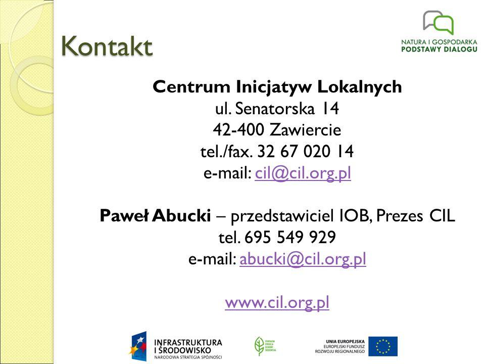 Kontakt Centrum Inicjatyw Lokalnych ul. Senatorska 14 42-400 Zawiercie tel./fax.
