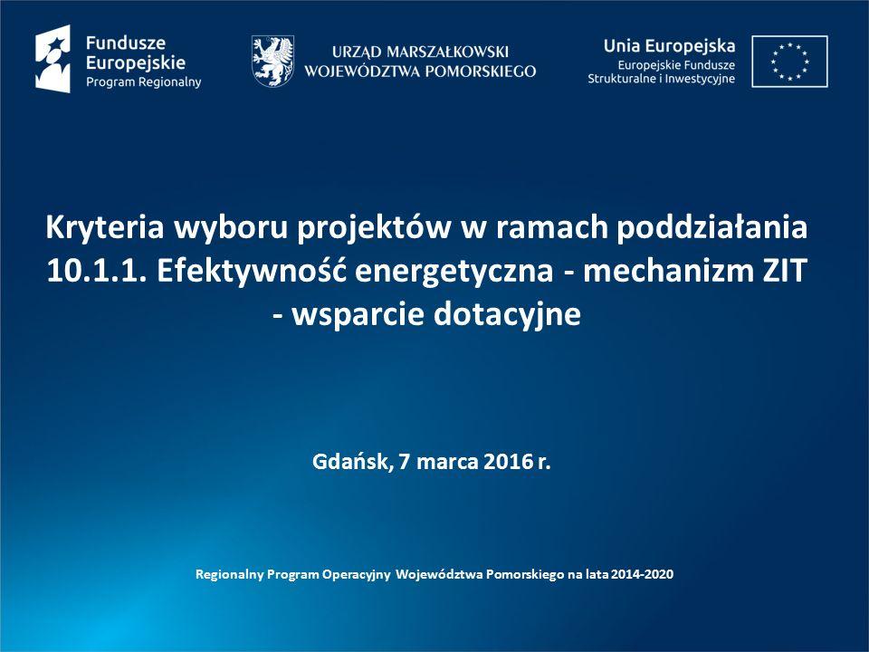 Kryteria wyboru projektów w ramach poddziałania 10.1.1.