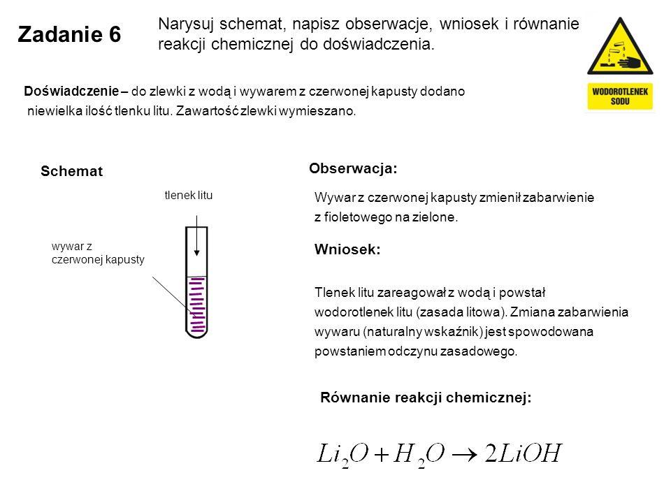 Zadanie 17 Uzupełnij zdania Obniżenie pH roztworu o 4, jeśli wartość początkowa wynosiła 8, spowoduje powstanie roztworu o pH ……….