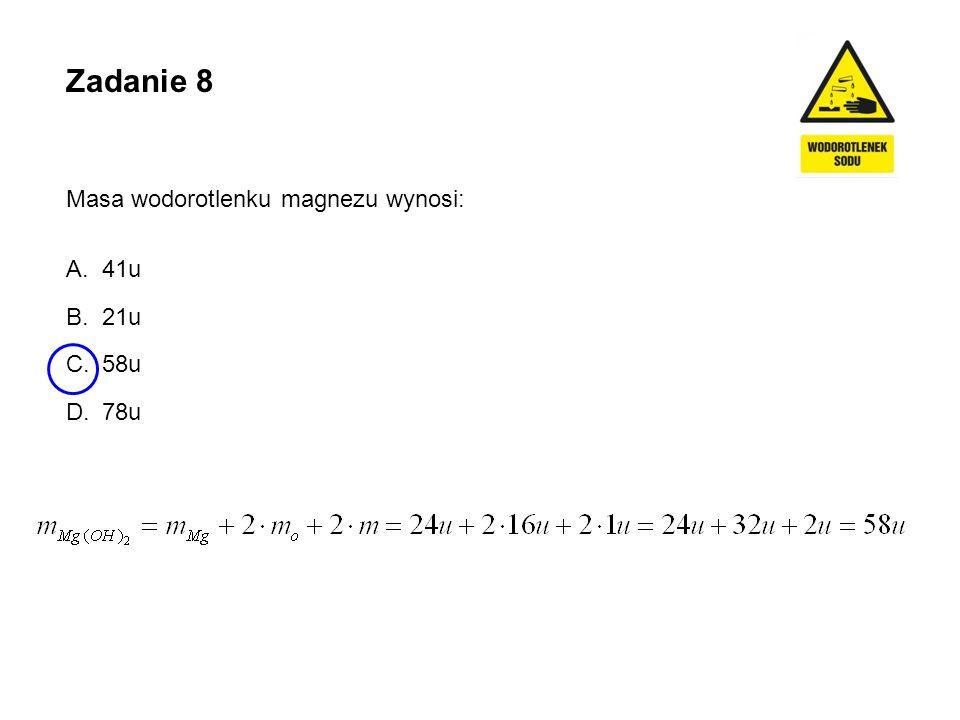 Zadanie 9 Zmieszano 200 g 25-procentowego roztworu wodorotlenku potasu ze 100 g 10-procentowego roztworu wodorotlenku potasu.
