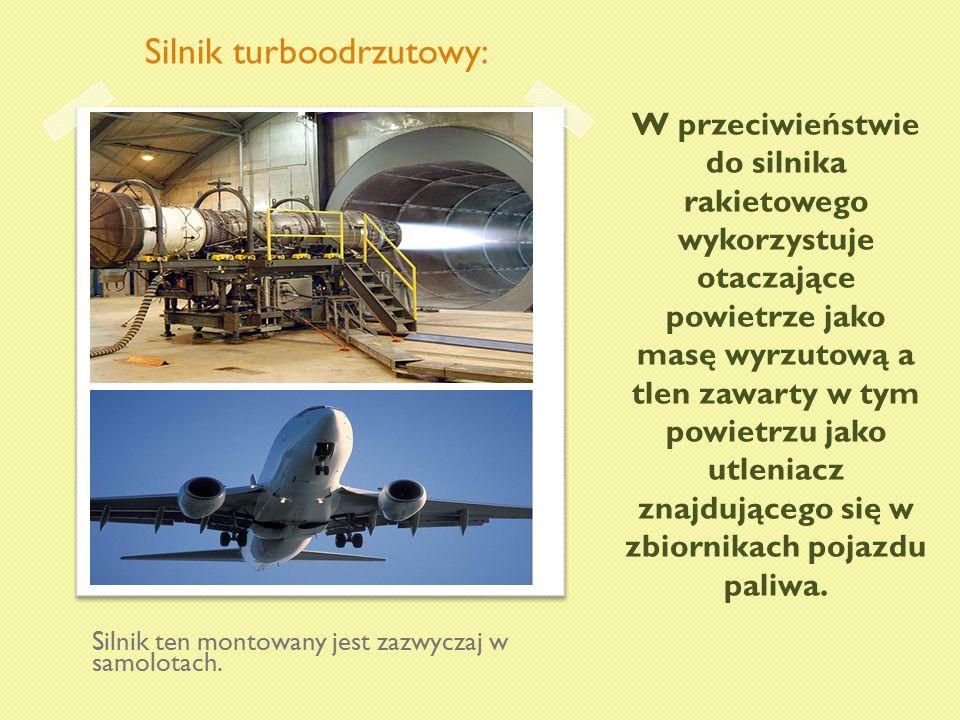W przeciwieństwie do silnika rakietowego wykorzystuje otaczające powietrze jako masę wyrzutową a tlen zawarty w tym powietrzu jako utleniacz znajdując
