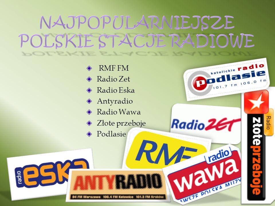 RMF FM Radio Zet Radio Eska Antyradio Radio Wawa Złote przeboje Podlasie